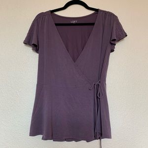 Loft extra soft wrap top